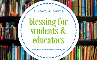 Join us for a Back-to-School blessing!