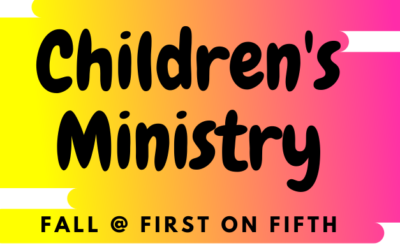 Fall 2020 Children's Ministry Schedule